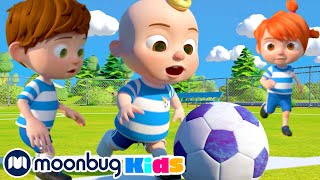 @Cocomelon - Nursery Rhymes | The Soccer Song! | ABC 123 Kids | Fun Cartoons | Learning Rhymes