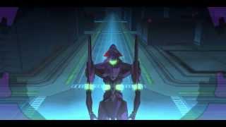 Neon Genesis Evangelion Jo PSP first fight (HQ)