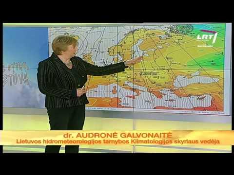 Savaitgalio orus apžvelgia klimatologė Audronė Galvonaitė (2012 metų lapkričio 22 dienos)