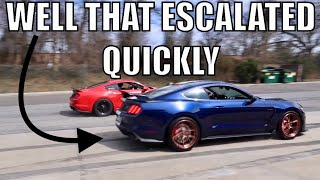 RELAXING MUSTANG MEET TURNS INTO PURE CHAOS!