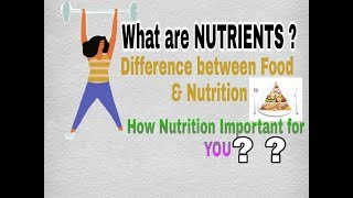 what are nutrients part 1 nutrition are they important complete detail in this video