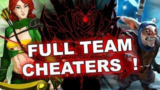 FULL team of CHEATERS 7.19c - WTF with Valve Anti-Cheat?