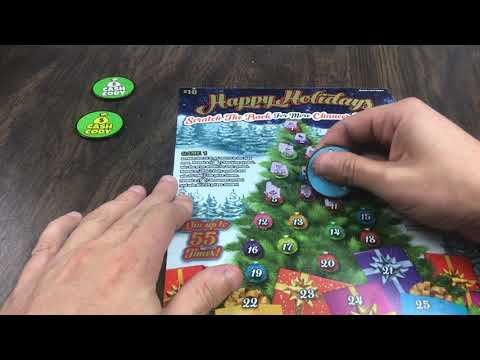 Happy Holidays Ohio Lottery Ticket