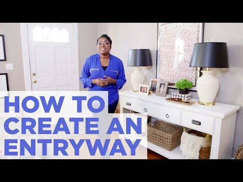 How to Create the Illusion of an Entryway  Easy Home Decorating  HGTV