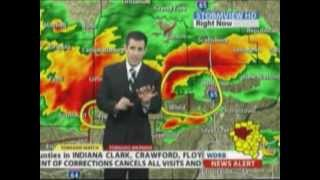 WDRB (FOX) 3-2-2012 Dramatic Live Streaming Tornado Coverage part one