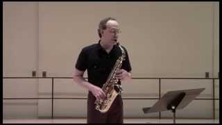 Gabriel Riccio:  Winding Through Angles, for solo alto saxophone