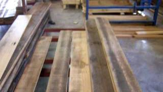 Building Box Beams From Reclaimed Heart Pine
