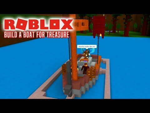 BYGGER BÅD MED FANS! - Roblox Build A Boat For Treasure Dansk Ep 1