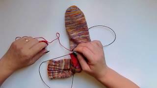 Jak opravit díru v ručně pletených ponožkách 2. díl