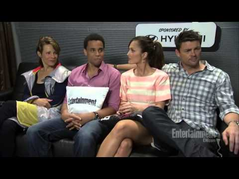 Almost Human Interview Cast EW.com - YouTube