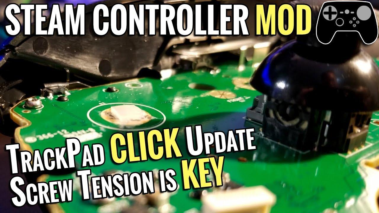 Steam Controller Mod - Softer Trackpad Click Update