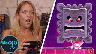 WatchMojo Lady Plays Super Mario Maker 2 (badly)