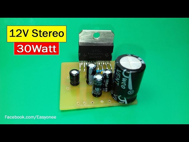 How to Make Mini Amplifier With 12v Dc using 4440 ic New