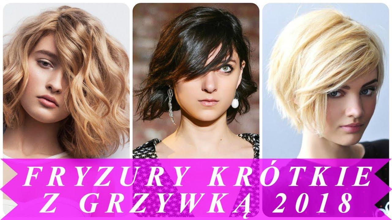 Top 15 Krótkie Fryzury Damskie Z Grzywką 2018