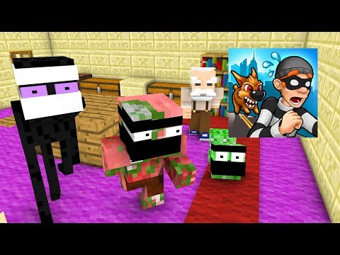 Monster School : ROBBERY BOB CHALLENGE - Minecraft Animation