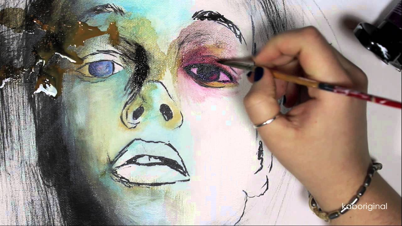 knew abstract portrait painting youtube