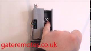 programminga bft mitto 2 4 gate garage remote control to a reciever