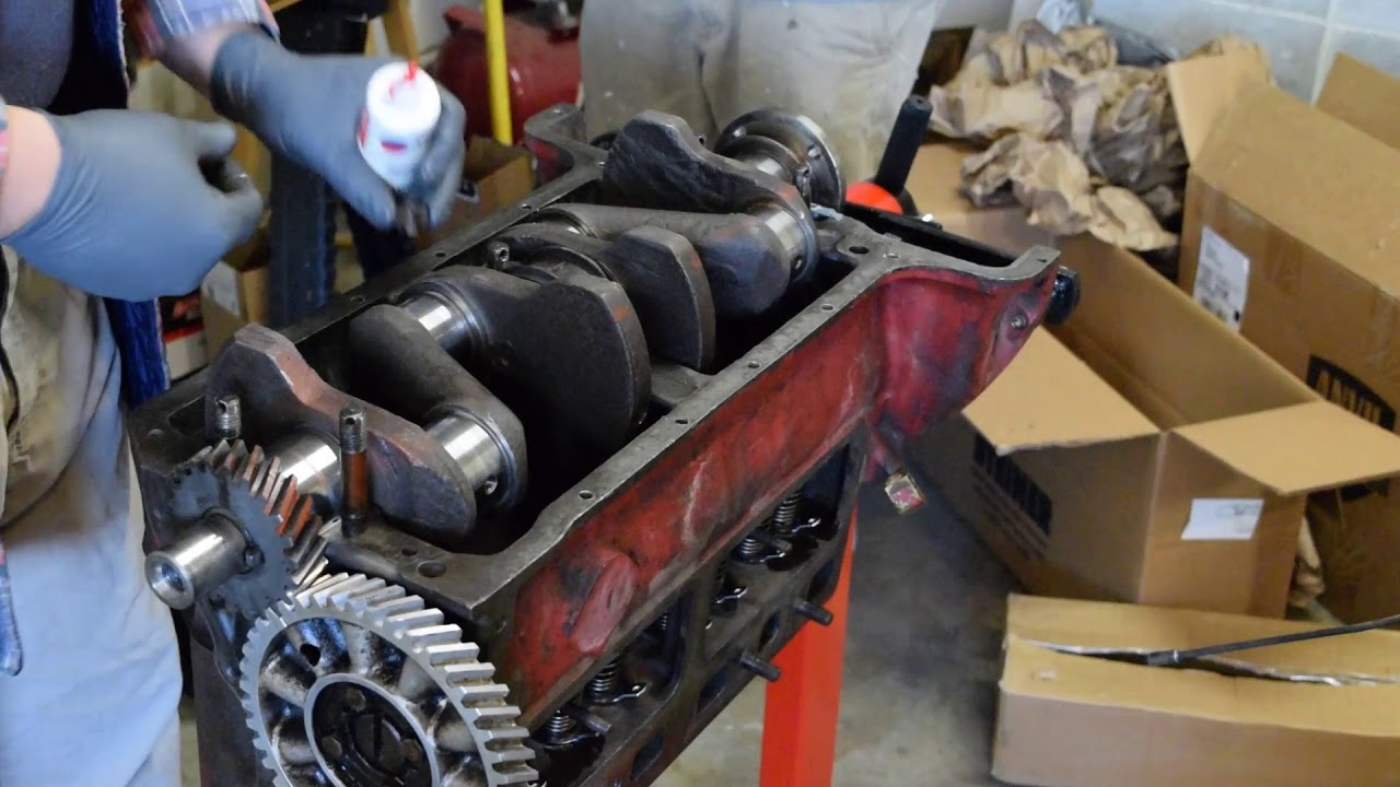 hight resolution of 1947 ford 8n tractor rebuild part 8 crankshaft
