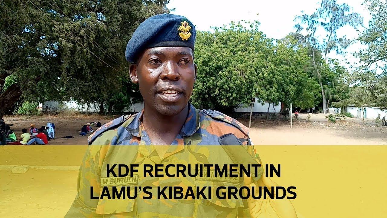 KDF recruitment in Lamu's Kibaki grounds
