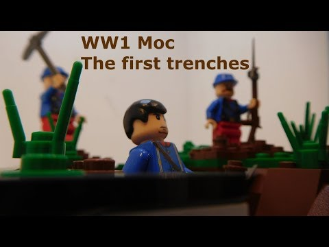The first trenches (WW1 moc) : legoww1