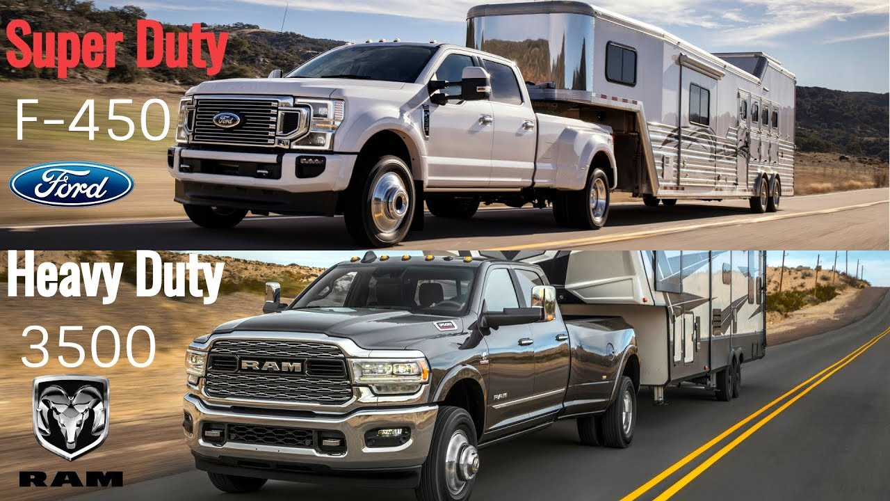 2020 Ford Super Duty F-450 vs Ram 3500 Heavy Duty - YouTube