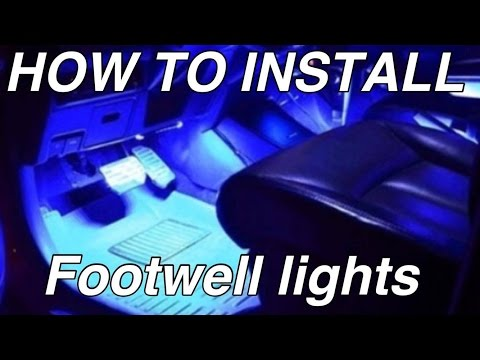 How to install LED Footwell Lights with RGB LED Strip. Plug and Play