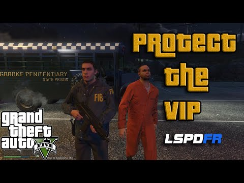 GTA5 LSPDFR - PROTECT THE VIP - LSPS Protection Squad