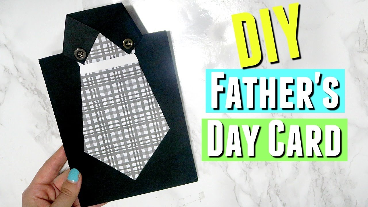 diy easy father s day shirt with tie card diy handmade fathers day