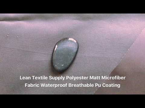 Polyester Matt Microfiber Fabric Waterproof Breathable PU Coating