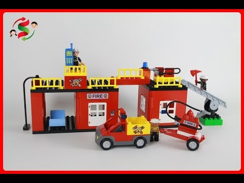 Lego Duplo Fire Station 4664 1 Youtube