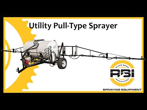 200 Gallon - Pull Behind Sprayer - 30' Boom - Manual Controller - River Bend Industries