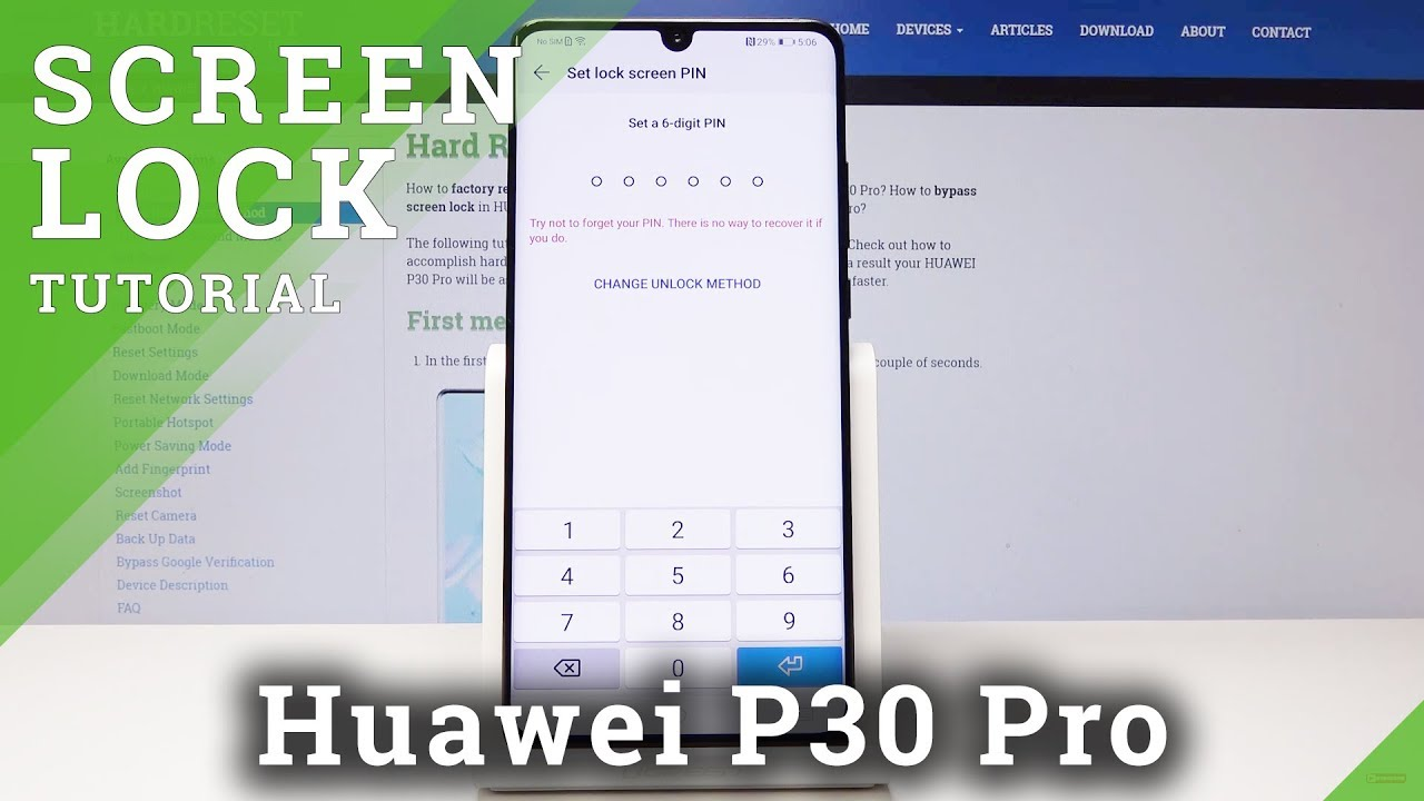 How to Add a Lock Screen in Huawei P30 Pro - Screen Protection