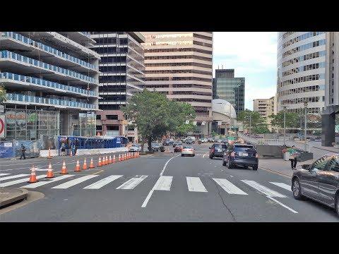 Driving Downtown - Arlington 4K - USA