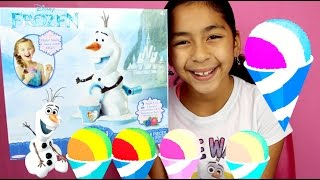 OLAF SNOW CONE MAKER UNBOXING AND REVIEW- Frozen Toys| B2cutecupcakes