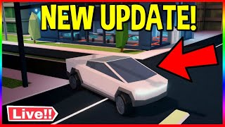 JAILBREAK NEW UPDATE TESLA CYBER TRUCK! | COMING OUT TODAY | MINI GAMES |