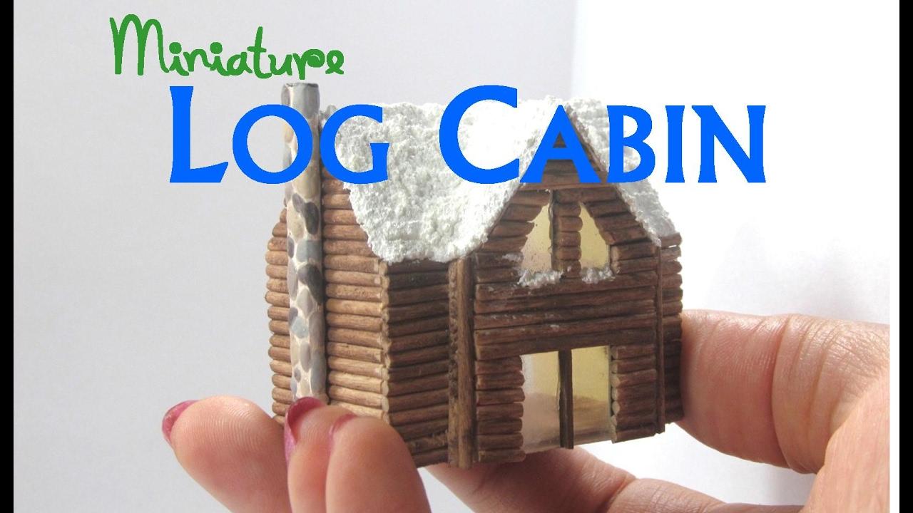 Diy Dollhouse Miniature Loft Log Cabin 1 144 Scale Using