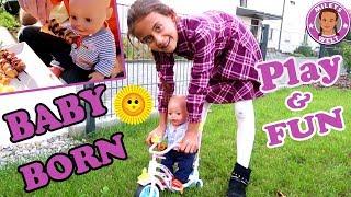 BABY BORN PLAY & FUN   GRILLPARTY UND MEGA SPAß auf dem Fahrrad   MILEYS WELT