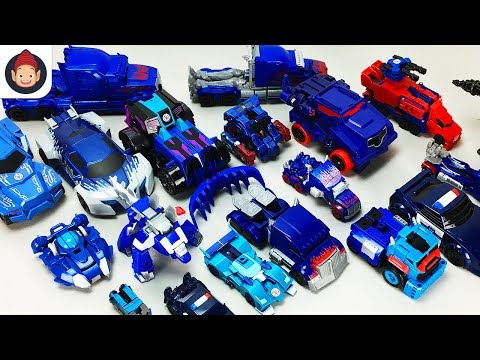 Blue Color Transformers Optimus Prime Chase Truck Dinobot 20 Vehicle Transformation Robot Car Toy