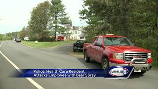 Resident accused of attacking health care worker with bear spray