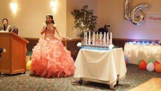 Alyssa ' s Sweet 16 Kaars Ceremonie