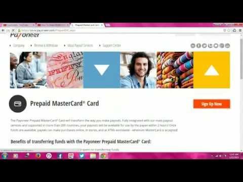 payoneer prepaid mastercard