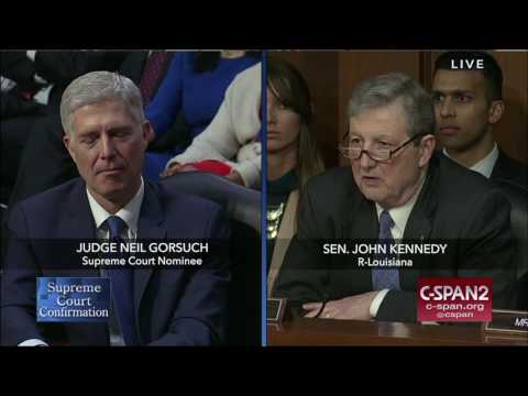 Sen. John Kennedy Opening Statement on Judge Gorsuch