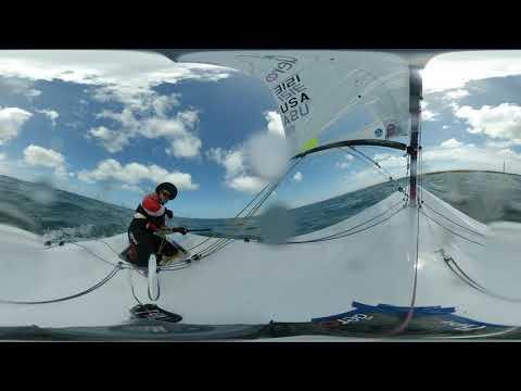 2019 RS Aero World Championship - Race 2, Part 2 of 4, 360 degree view w/Marc Jacobi