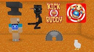 Monster School: KICK THE BUDDY CHALLENGE - Minecraft Animation