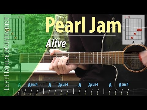 Pearl Jam Alive Acoustic Guitar Lesson Youtube