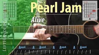 Pearl Jam - Alive acoustic guitar lesson