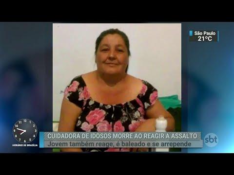Empregada doméstica é assassinada ao reagir a assalto em Diadema   SBT Brasil (03/04/18)