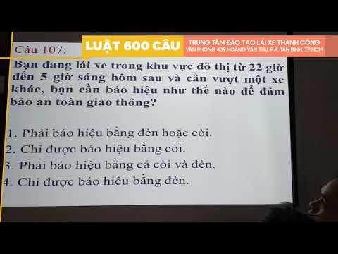 Lý Thuyết 600 Câu Hỏi Luật GTĐB 2020 Phần CHỮ ( Câu 81 - 150 ) Phần 2 - Thầy Nguyên