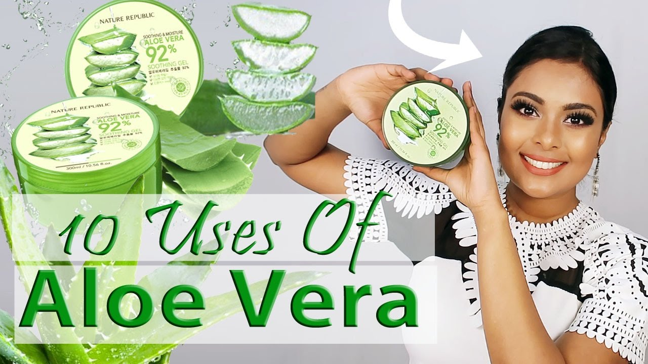TOP 10 USES ALOE VERA GEL FOR SKIN & HAIR - BEAUTY BENEFITS OF ALOE - AVG HACKS