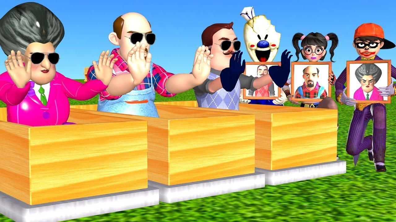 Scary Teacher 3D NickJoker vs Tani Harley Quinn Troll Miss T vs Neighbor vs Ice Scream 4 in Garden